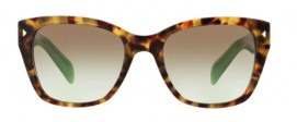 Prada SPR 09S UEZ-4K1 Spotted Brown Green/Green Gradient Grey