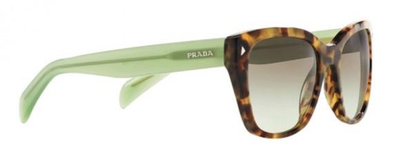 Prada SPR 09S UEZ-4K1 Spotted Brown Green/Green Gradient Grey
