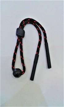 Cordón deportivo rojo ajustable