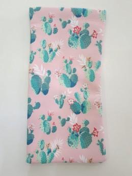 Estuche Fleje Cactus rosa