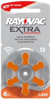 Pilas audífono Rayovac Extra Advanced 13 (Naranja) 6u.