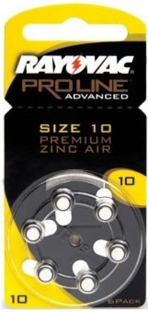 Pilas audífono Rayovac Proline Advanced 10 (Amarilla) 6u
